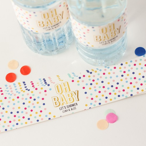 Personalized Oh Baby Drink Labels