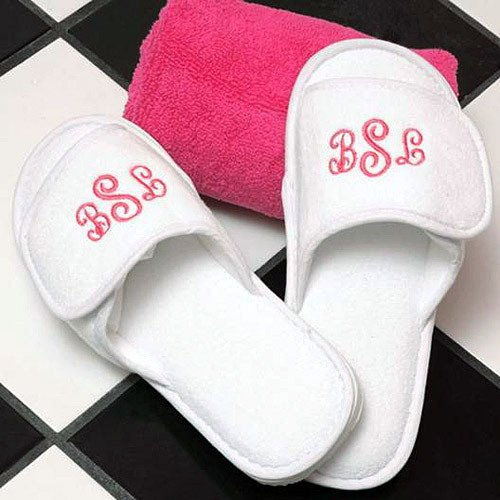 Personalized Terry Cloth Spa Slippers