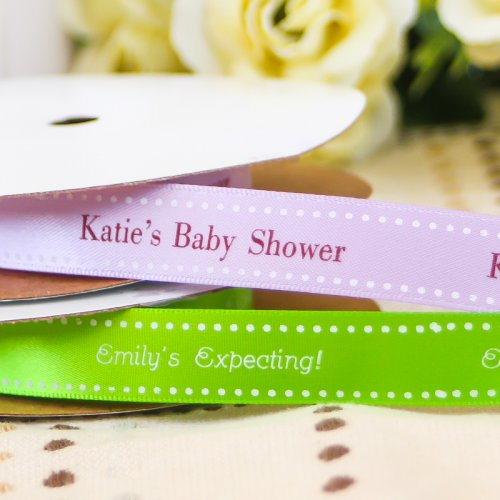 Personalized Satin Baby Shower Ribbon