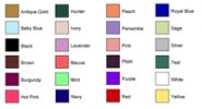 Personalized Favor Ribbon Ribbon Color Chart