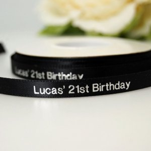 Personalized Ribbon - Double-Faced Satin