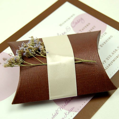 Brown Pillow Favor Box