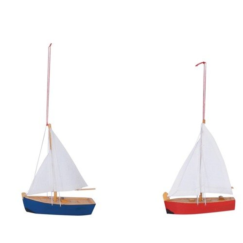 Mini Wooden Sailboats Set
