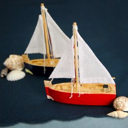 Mini Wooden Sailboats