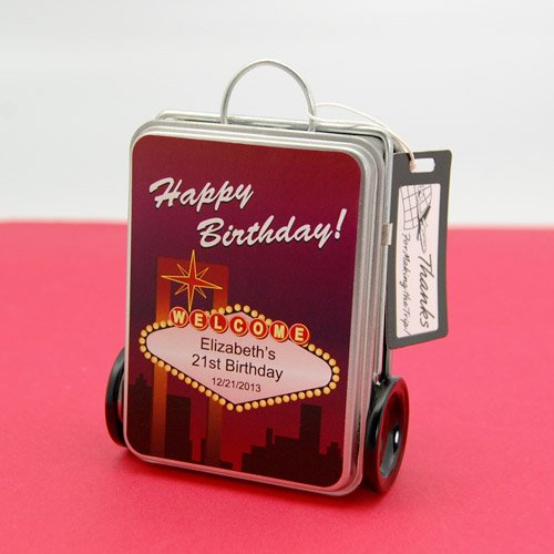 21st Birthday Suitcase Tins