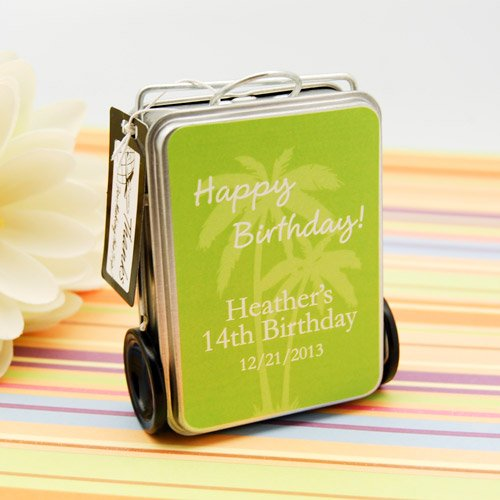 Personalized Birthday Suitcase Tins