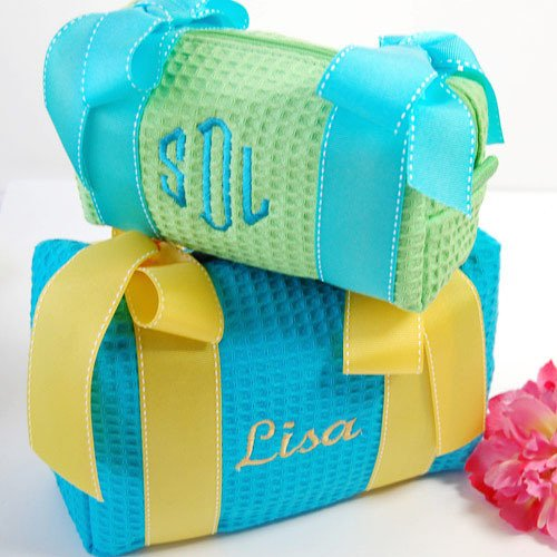 Monogrammed Spa Toiletry Bags