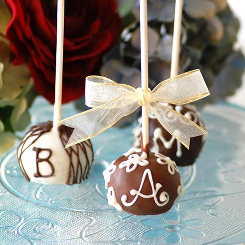 Mini Monogrammed Brownie Pops