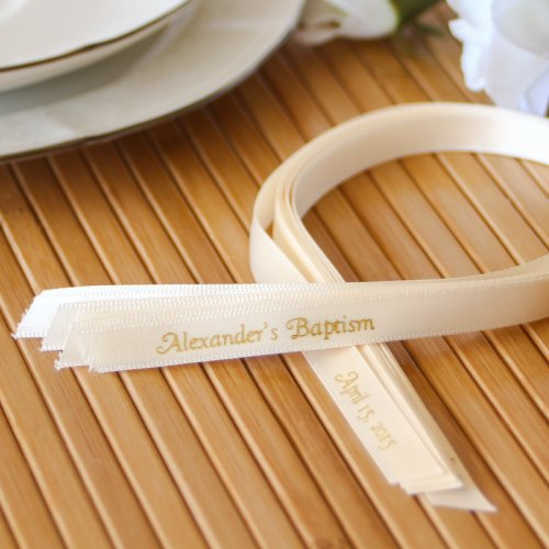 Personalized Baptism Favor Ribbon