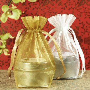 Flat Bottom Organza Bags