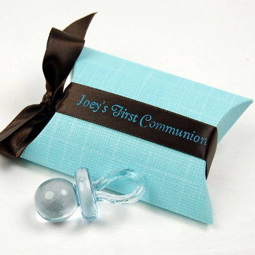Blue Pillow Favor Box