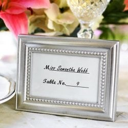 Brushed Metal Beaded Picture Frames