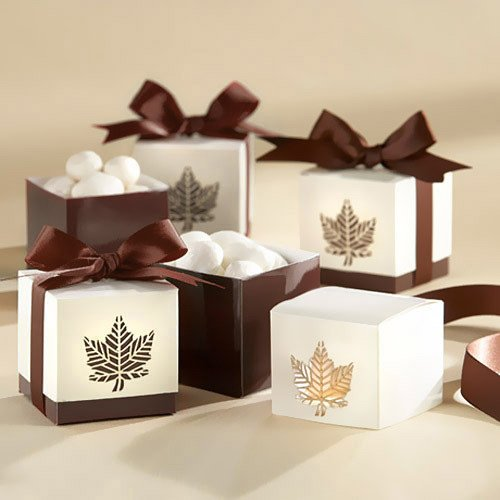 Fall Leaf Favor Boxes