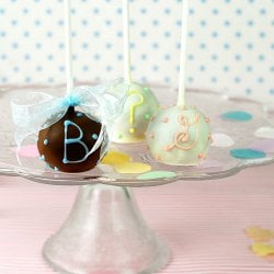 Mini Personalized Baby Brownie Favor Pops