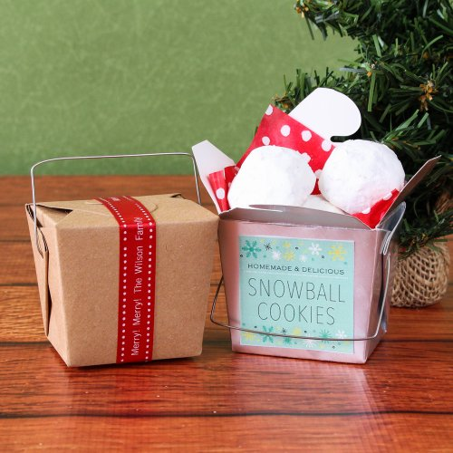 Mini Christmas Takeout Boxes
