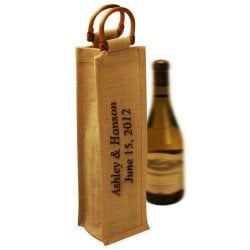 Personalized Jute Wine Bags