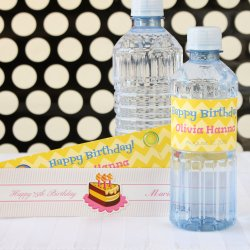 Personalized Birthday Drink Labels