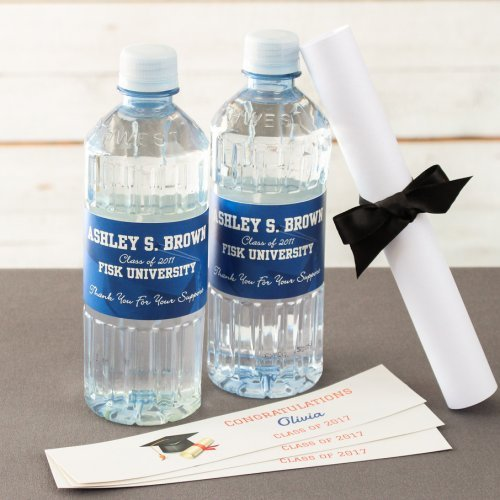Personalized Graduation Bottled Water