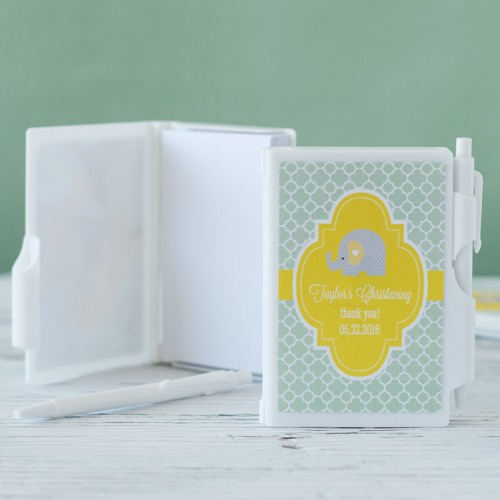 Personalized Baptism Notebook Favor