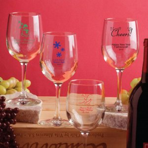 Personalized Holiday Wine Glass