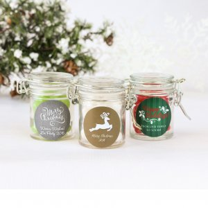 Personalized Glass Party Favor Jars