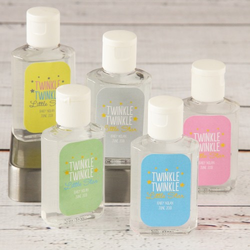 Assorted Personalized Baby Shower Hand Sanitizer
