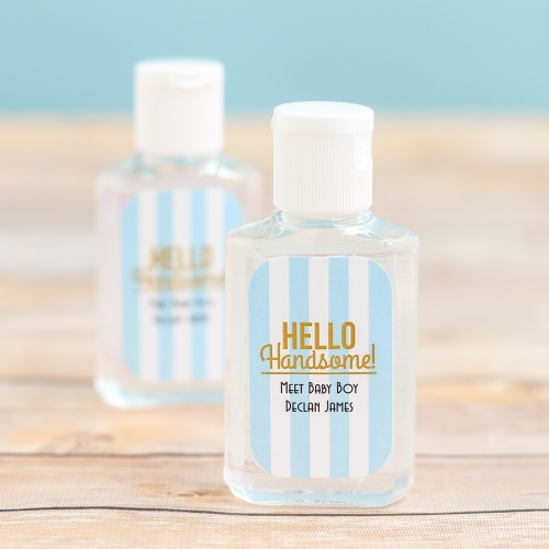 Personalized Hello Handsome Hand Sanitizer