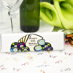 Personalized Las Vegas Themed Birthday Chocolate Bars