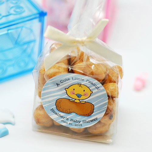 Personalized Nuts Baby Shower Favor