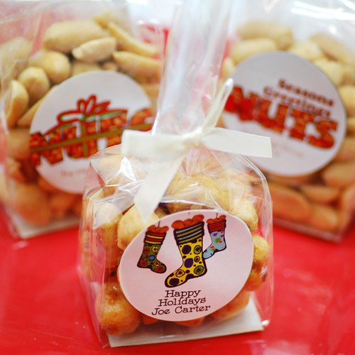 Personalized Holiday Nuts Favors