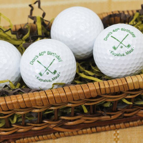Personalized Birthday Golf Balls