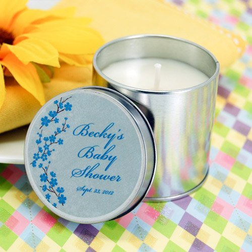 Baby Shower Candle Tin