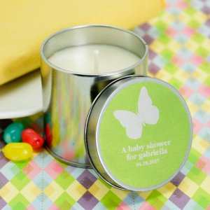 Personalized Baby Shower Travel Candle Tin