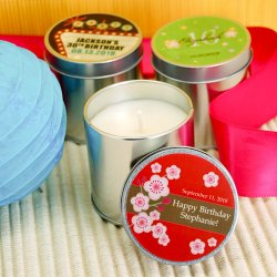 Personalized Birthday Travel Candle Tin