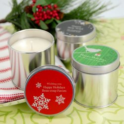 Personalized Holiday Travel Candle Tin
