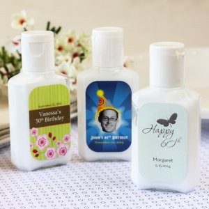 Personalized Birthday Hand Lotion