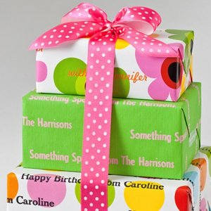Personalized Birthday Gift Wrapping Paper