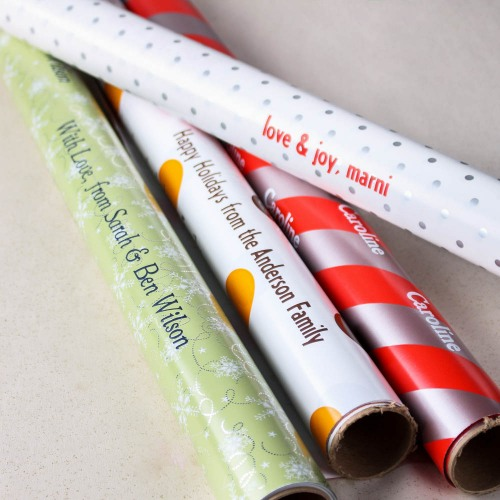 Personalized Rolls of Gift Wrapping Paper