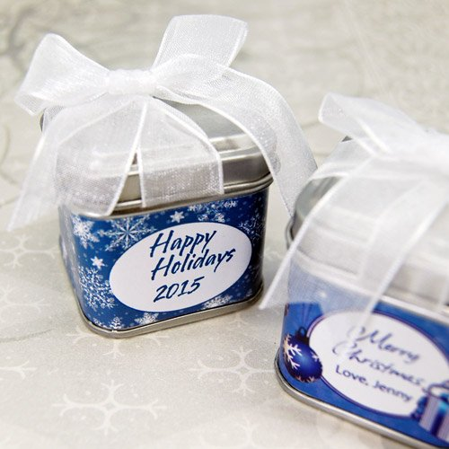 Personalized Square Party Favor Tins
