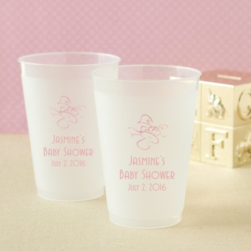 Personalized Frosted Plastic Baby Cups