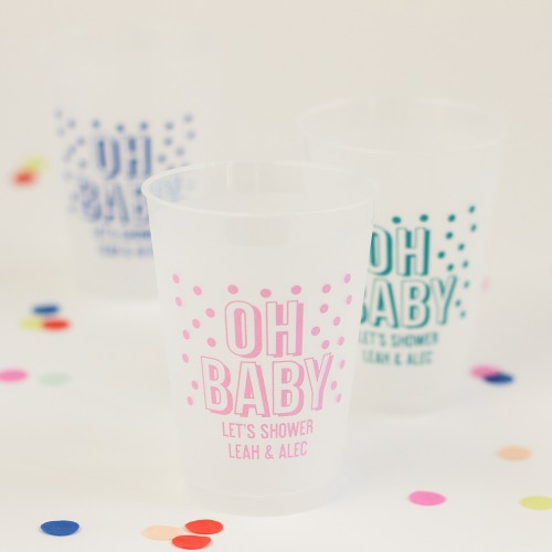 Personalized Oh Baby Frosted Cups