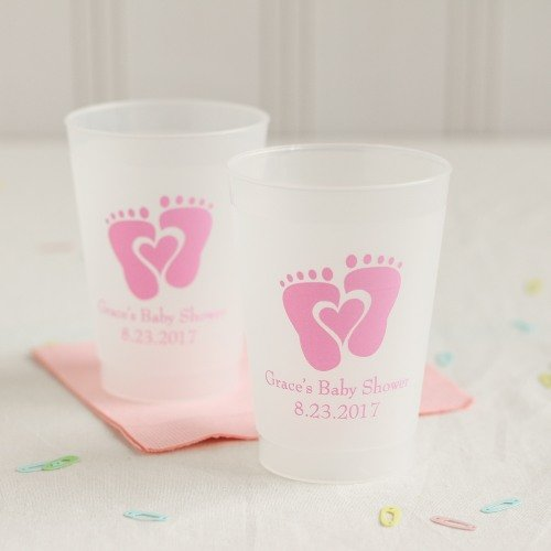 Personalized Baby Feet Frosted Stadium Cups