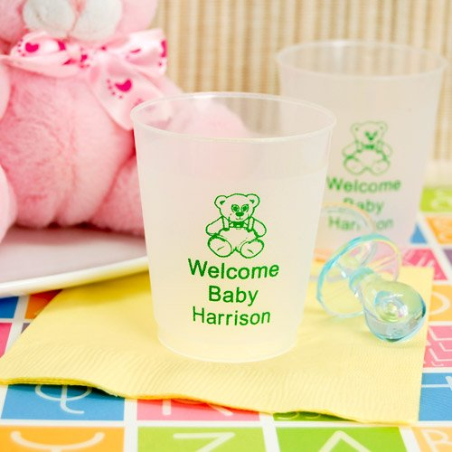 Personalized Frosted Plastic Baby Shower Cups