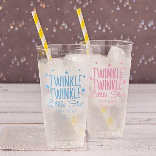 Personalized Twinkle Baby Shower Cups