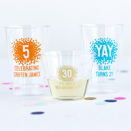 Personalized Clear Plastic Birthday Cup