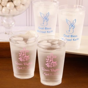 Personalized Clear Plastic Party Cups