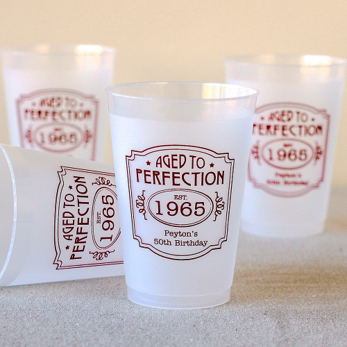 Personalized Frosted Cups