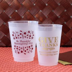 Personalized Frosted Plastic Holiday Cups