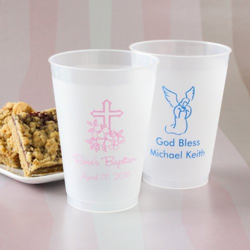 Personalized Frosted Plastic Party Cups