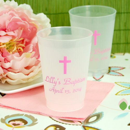 Personalized Frosted Plastic Religious Cups